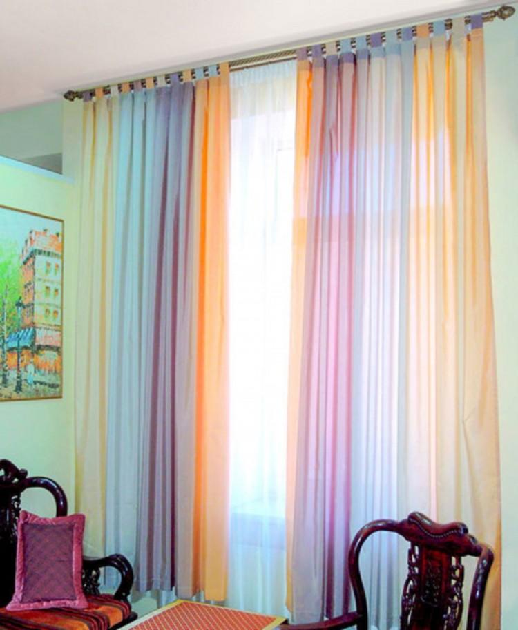 фиолетово-серые шторы фото